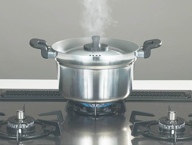 ガス で ご飯 を 炊く